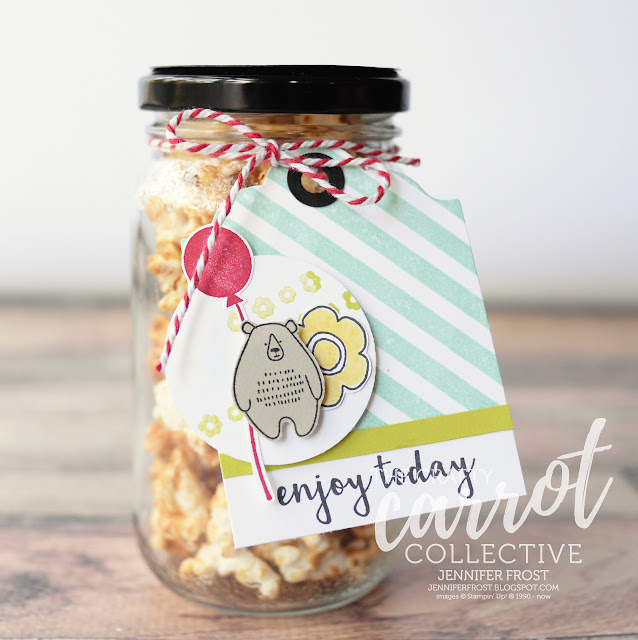 Pieces & Patterns, Party Favour, Gift Tag, Bear, Stampin' Up!, Papercraft by Jennifer Frost, Customer rewards program, The Crafty Carrot Collective