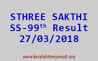 STHREE SAKTHI Lottery SS 99 Results 27-03-2018