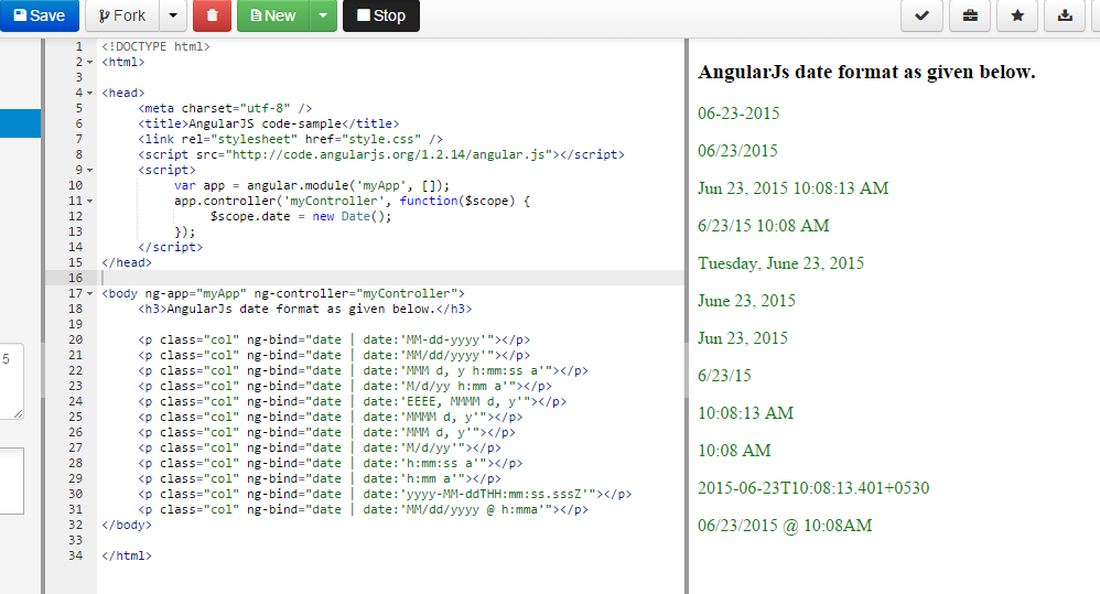 date format | date formats in angularjs - angular 8, 7, 6, 5, 4 and
