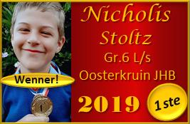 Nicholis Stoltz praat vanjaar weereens raak met sy Raakpraat Toespraak en blink uit as die Graad 6 WENNER by L/s Oosterkruin, JHB! Mooi so, Nicholis!!