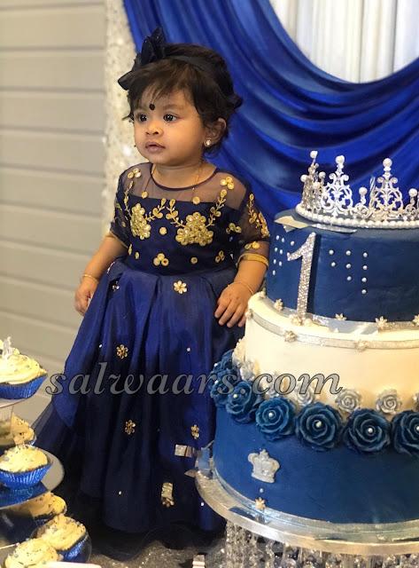 Cutie Pie in Blue Kids Frock