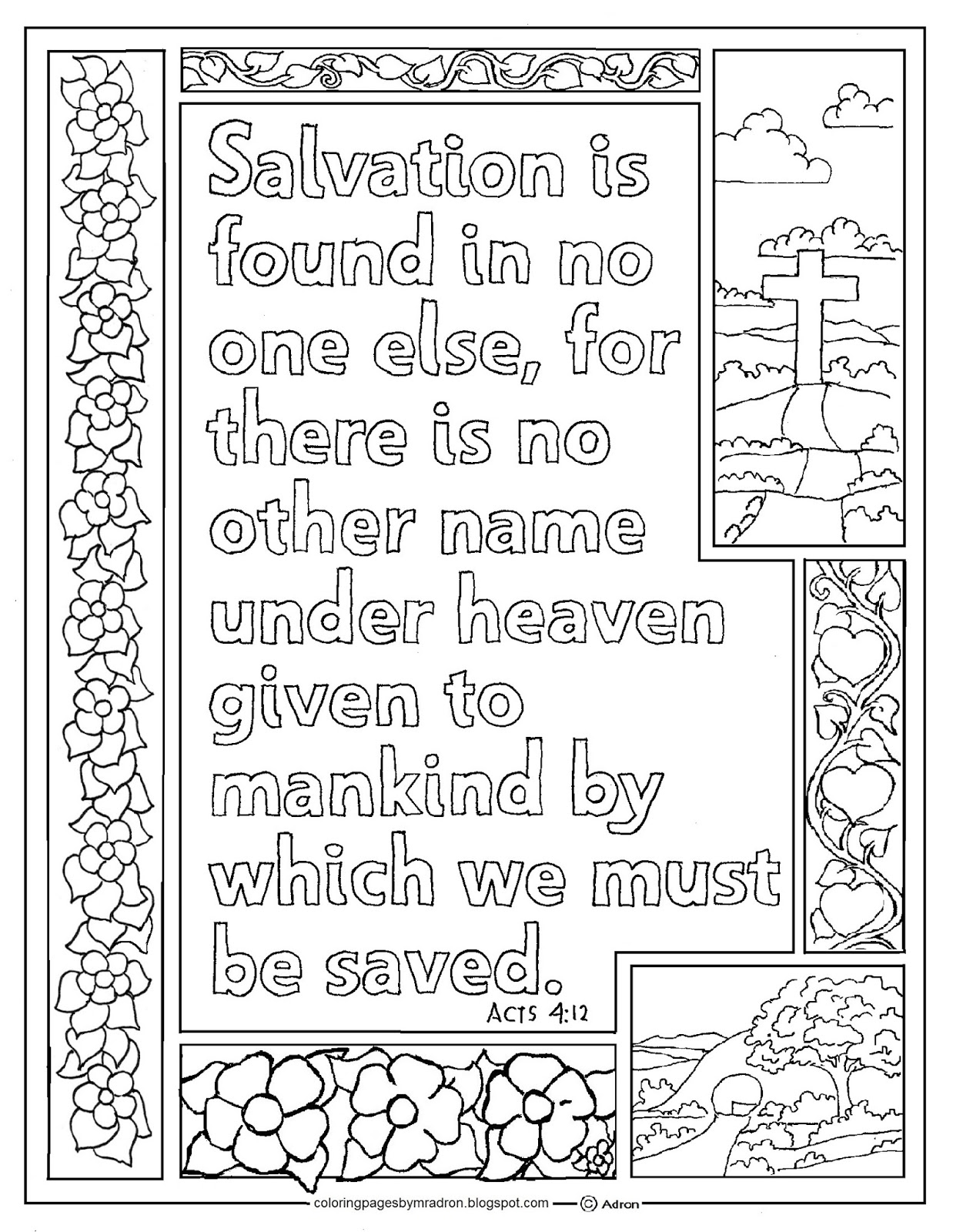 acts 3 1 10 coloring page - coloring pages for kids by mr adron acts 4 12 print and