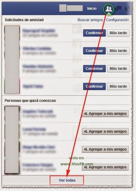 Cómo ver todas las solicitudes en Facebook