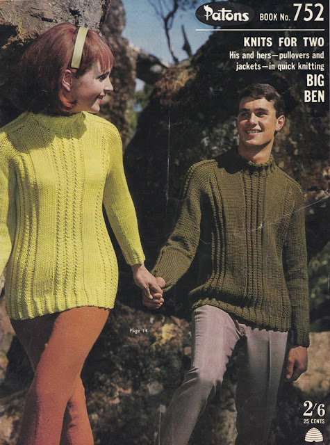 The Vintage Pattern Files: Free 1960s Knitting Pattern - Patons Book No.752 - Knits for Two Booklet