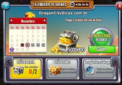 Calendário de Arenas - Novo Bônus!