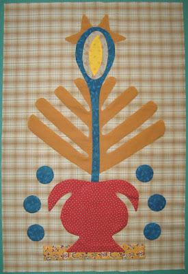 Volunteer Bloom and Berries from Linda Brannock's Flowers quilt pattern