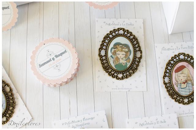 broche boda y etiqueta personalizada