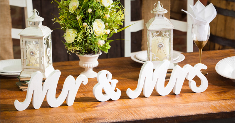 Mr & Mrs Tabletop Decor