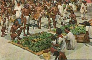 indigenas comercializando vainilla