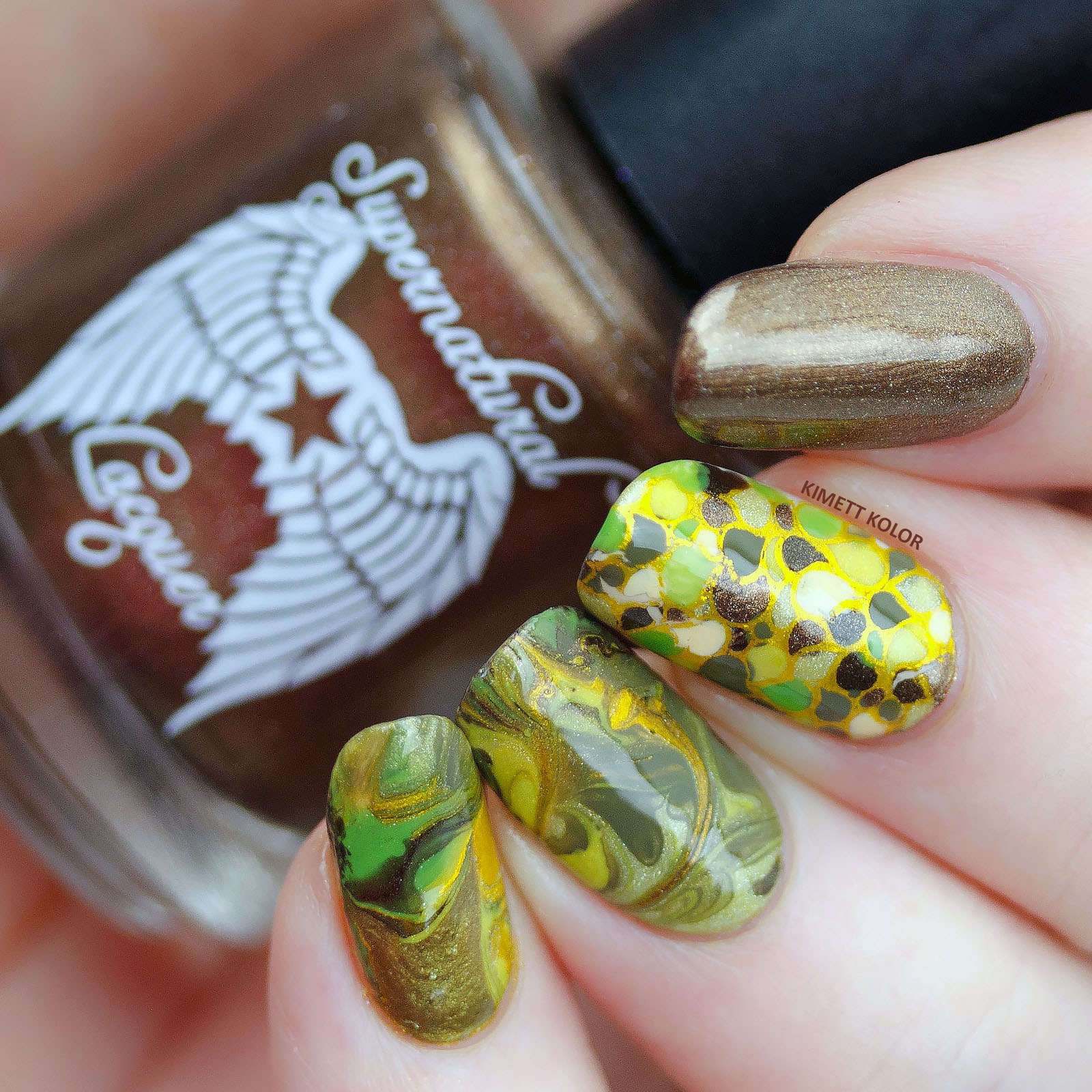 Kimett Kolor Nail Art with Supernatural Lacquer and more
