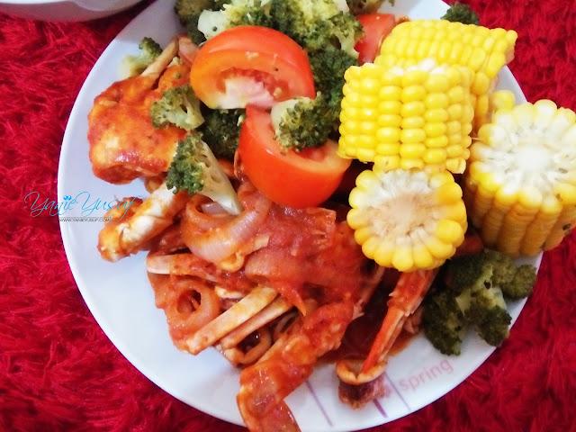 Resepi Seafood Ala Shell Out Homemade , shell out, Resepi Seafood Ala Shell Out Homemade mudah dan ringkas