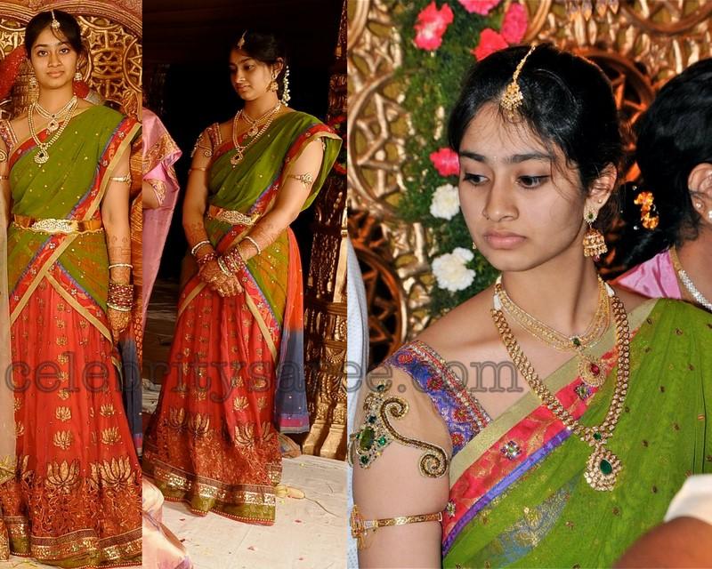 half saree design