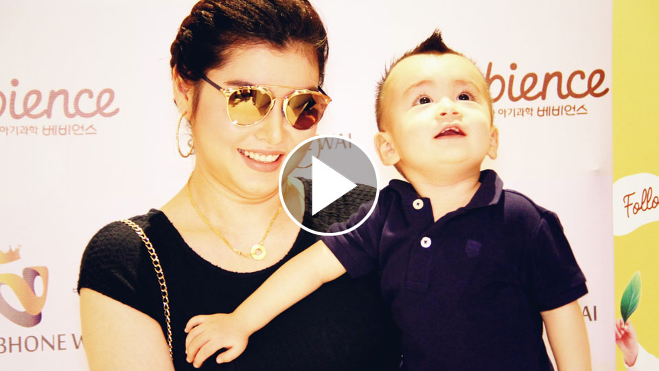 "Melody & her Son At ""Babience"" Baby Care Product Launch"