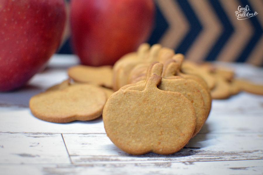 Rezept Apfel Sesammus Hundekekse selbst backen