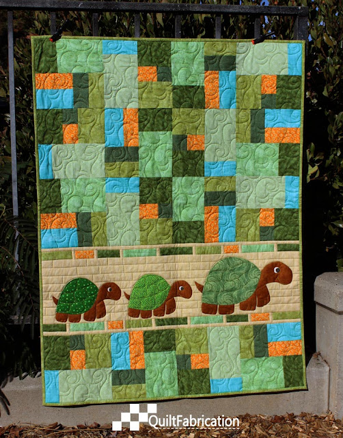 Double Jumble Turtles quilt
