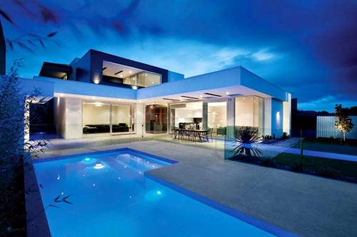 Desain Rumah Mewah 2 Lantai Dengan Kolam Renang & 60 Desain Rumah Mewah 2 Lantai Dengan Kolam Renang Dilengkapi ...