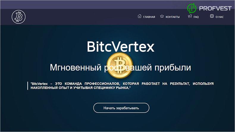 BitcVertex обзор и отзывы HYIP-проекта