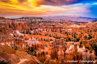Cramer Imaging's professional quality landscape and nature photograph of Bryce Canyon National Park, Utah at Sunset Point