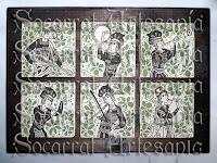 Seis socarrats de creación propia conforman este mural adaptado al socarrat. Socarrat Artesanía