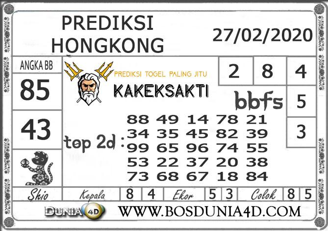 Prediksi Togel HONGKONG DUNIA4D 27 FEBRUARI 2020