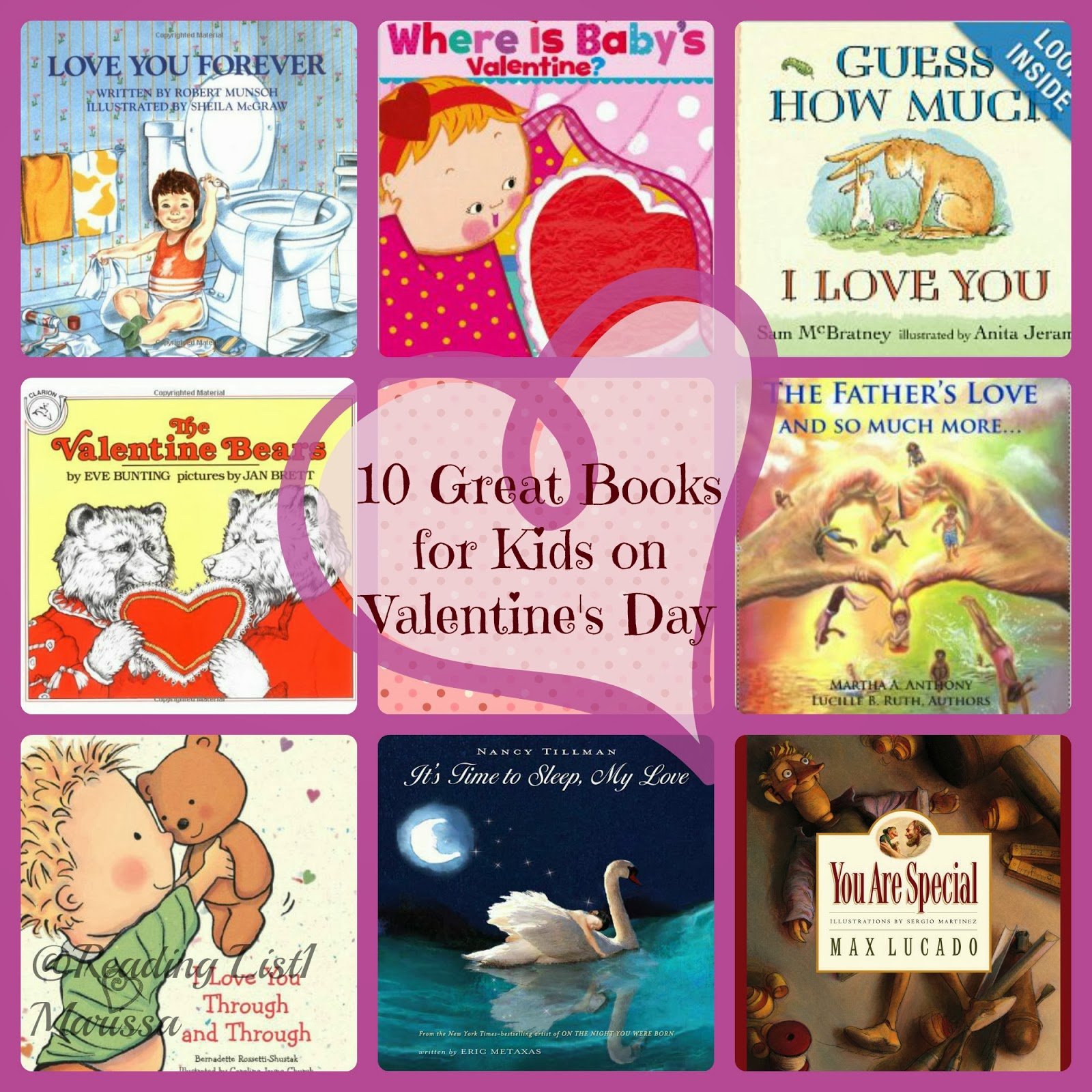 10 great books for kids on Valentine's   {Reading List}