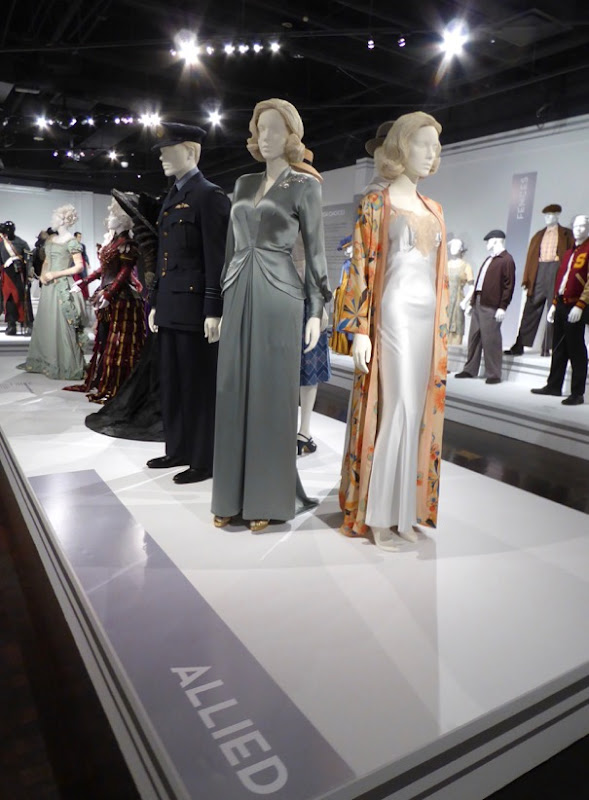 Allied movie costume exhibit FIDM Museum LA