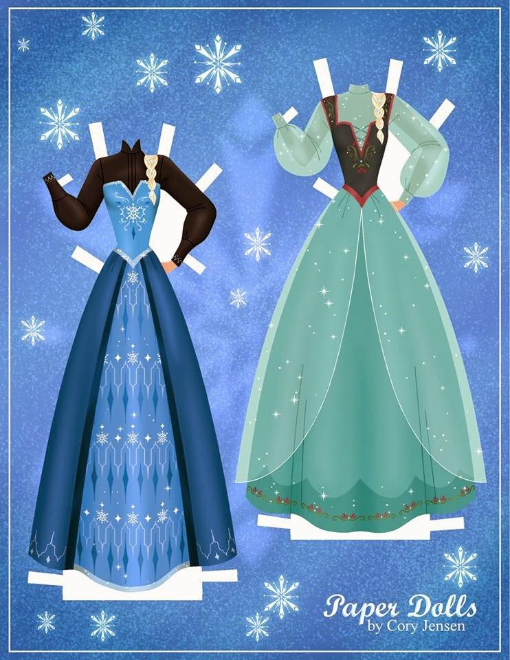 Frozen mu ecas de papel para imprimir gratis ideas y - Como hacer cadenetas de papel para fiestas ...