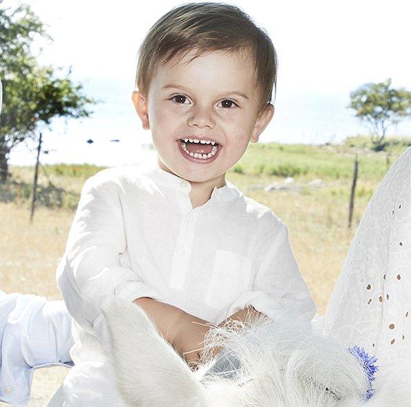 Queen Silvia, Crown Princess Victoria, Prince Daniel, Princess Estelle, Prince Oscar, Princess Sofia, Prince Alexander and Prince Gabriel