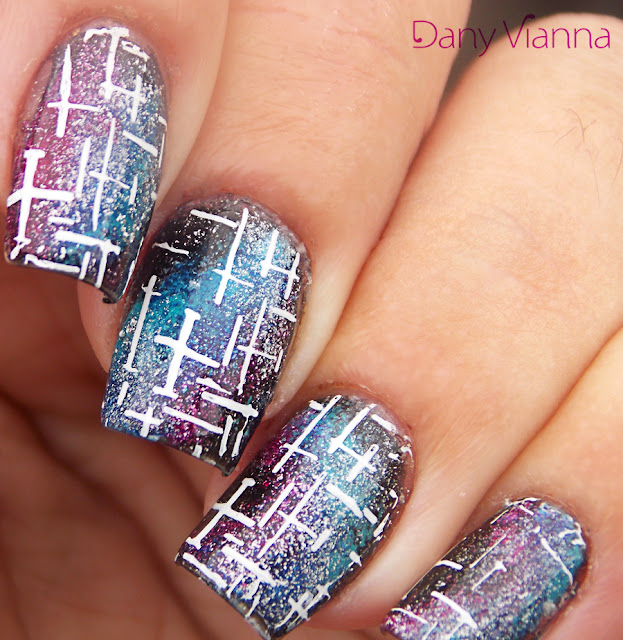 Galaxy Nails Carimbada