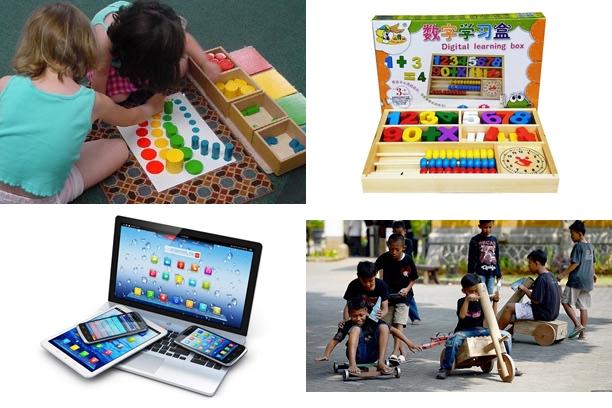 Berbagai mainan anak untuk berbagai usia