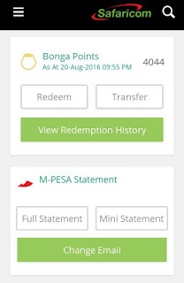 MySafaricom App M-PESA Menu