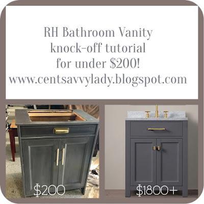 Centsavvylady Rh Style Bathroom Vanity Knock Off For Under 200