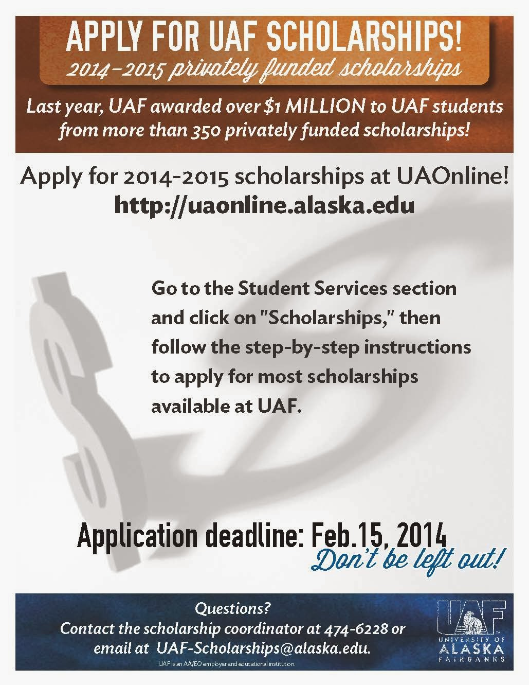What's Happening: Scholarships! Apply NOW For 2014-2015