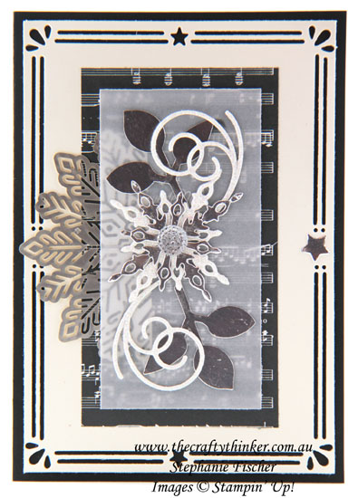 #thecraftythinker, #stampinup, #christmascard, #cardmaking, Christmas Card, Foil Snowflakes, Card Front Builder, Stampin' Up Australia Demonstrator, Stephanie Fischer, Sydney NSW