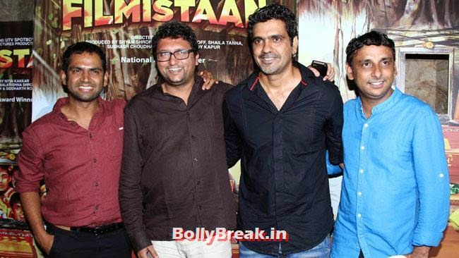 Sharib Hashmi, Nitin Kakkar and Inaamulhaq, Aditi Rao, Shilpa, Tisca at Filmistaan Movie Special Screening at Lightbox