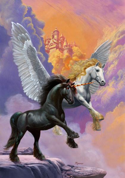 hairstyle looks beautiful and difeerent Pegasus horse