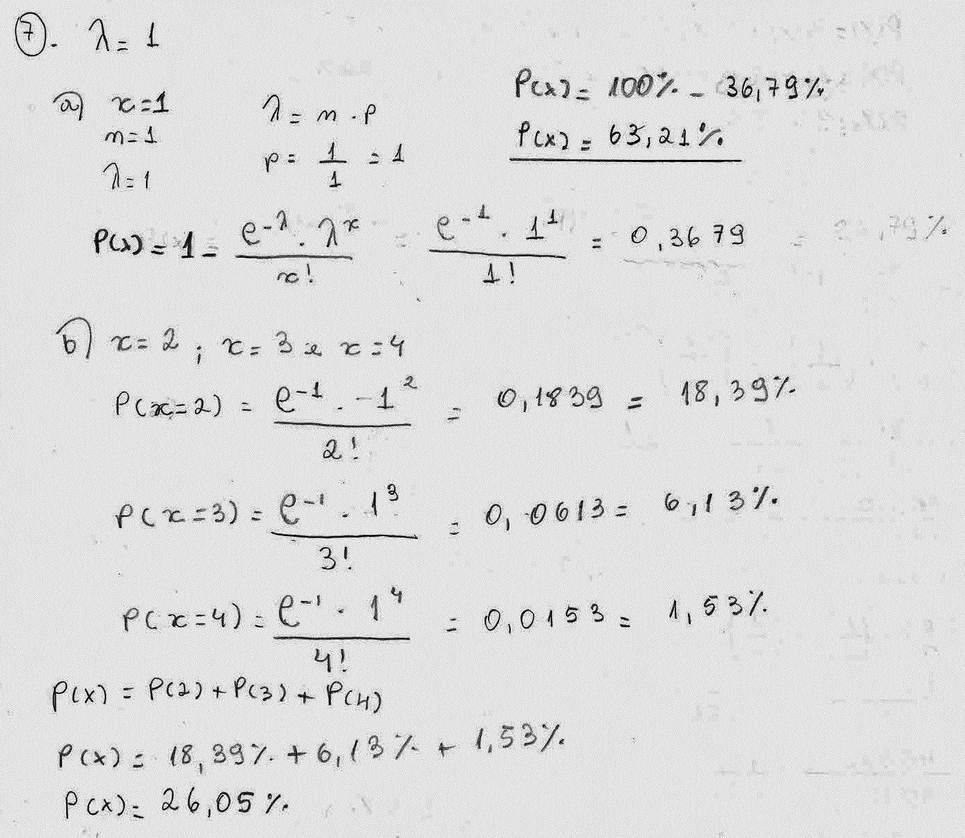 Probabilidade E Estatistica Exercicios Resolvidos