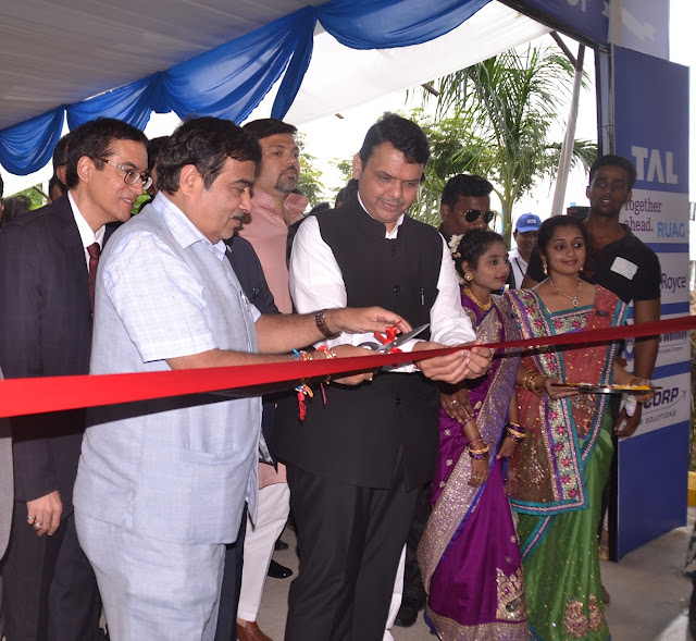 Image 2 – In the image, (Left to Right), Mr. Rajesh Khatri, ED & CEO, TAL Manufacturing Solutions, Shri. Nitin Gadkari, Union Minister for Road Transport, Highways & Shipping and Shri. Devendra Fadnavis, Hon'ble Chief Minister of Maharashtra, at the ribbon cutting ceremony. The celebration was held in the presence of Mr. Guenter Butschek, Managing Director and CEO, Tata Motors & the Board of Directors of TAL, apart from other government and industry dignitaries.