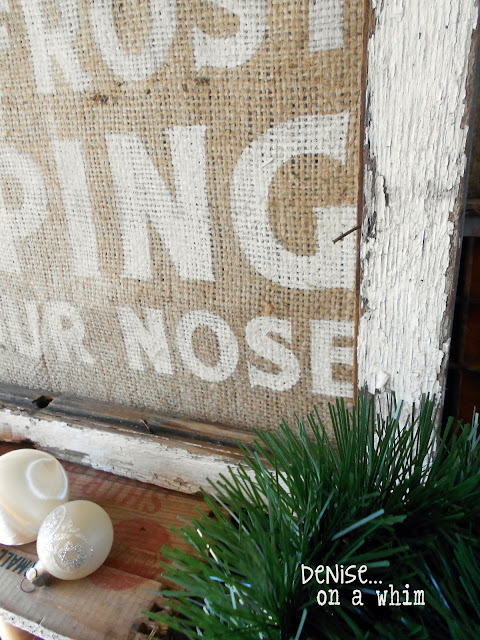 Chippy Window Burlap Sign