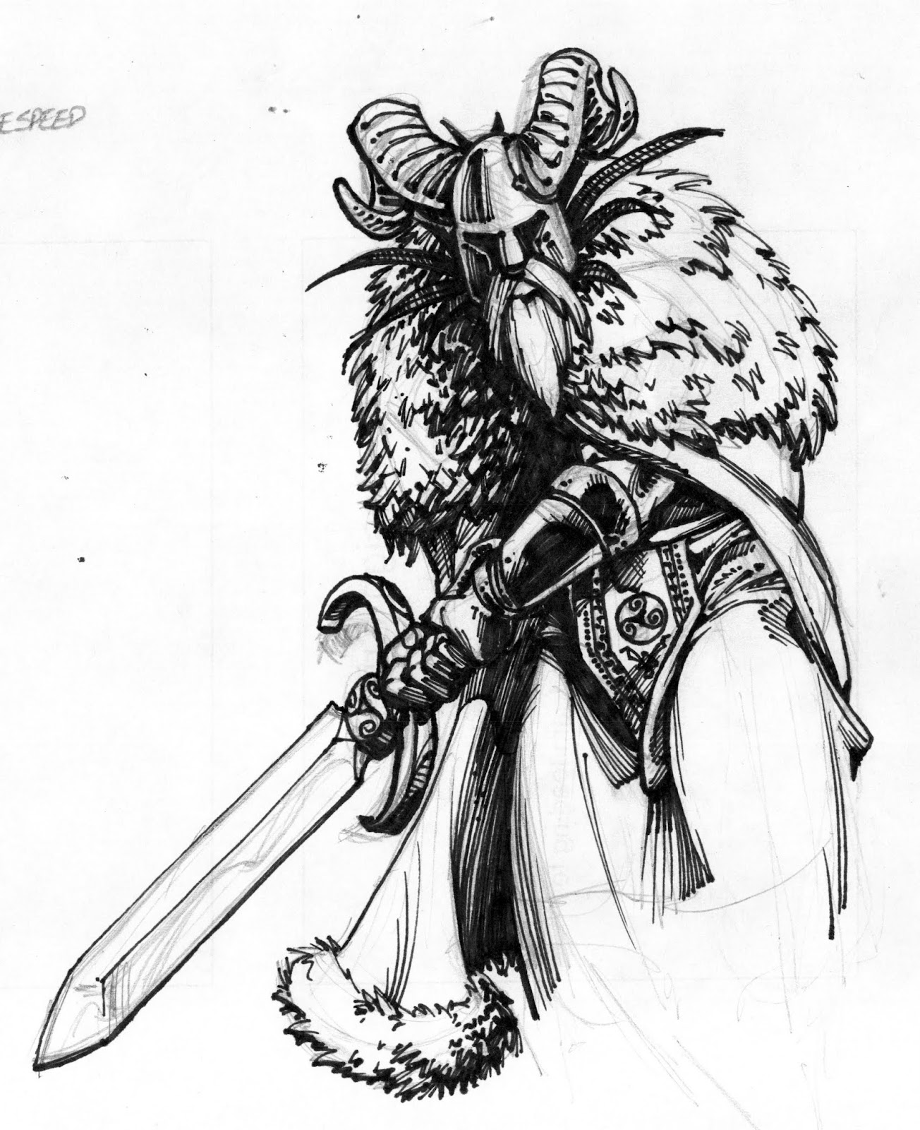 Sketchbook Clipart Free Ready For Valhalla A Long Time Ago