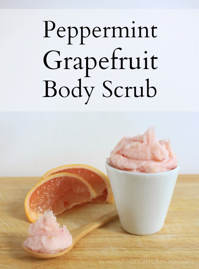 peppermint grapefruit body scrub recipe