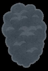 煙のイラスト(黒)1