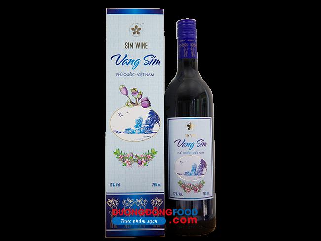 rượu vang sim phú quốc 750ml 12% rượu giá bao nhiêu