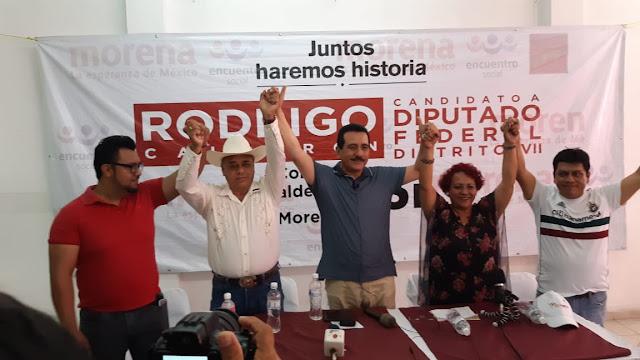Agradece Rodrigo Calderón a ciudadanos que depositaron su confianza en Morena, PT y PES