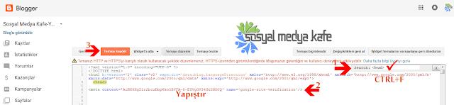 Google Webmaster Tools Site Doğrulama