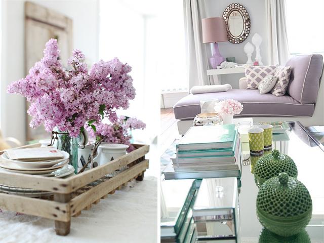 canapé lilas