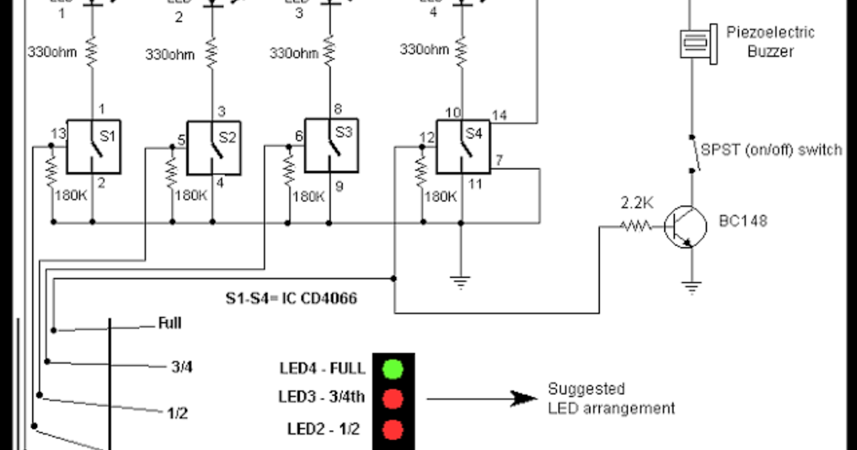 Electrical And Electronics Engineering  Water Level Controller Circuit Diagram