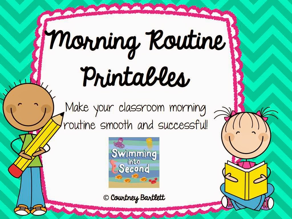 Swimming Into Second M Is For Morning Routines Abcs Of 2nd Grade