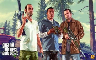 GTA 5 2015 3 Personnages - Fond d'Écran en Full HD 1080p