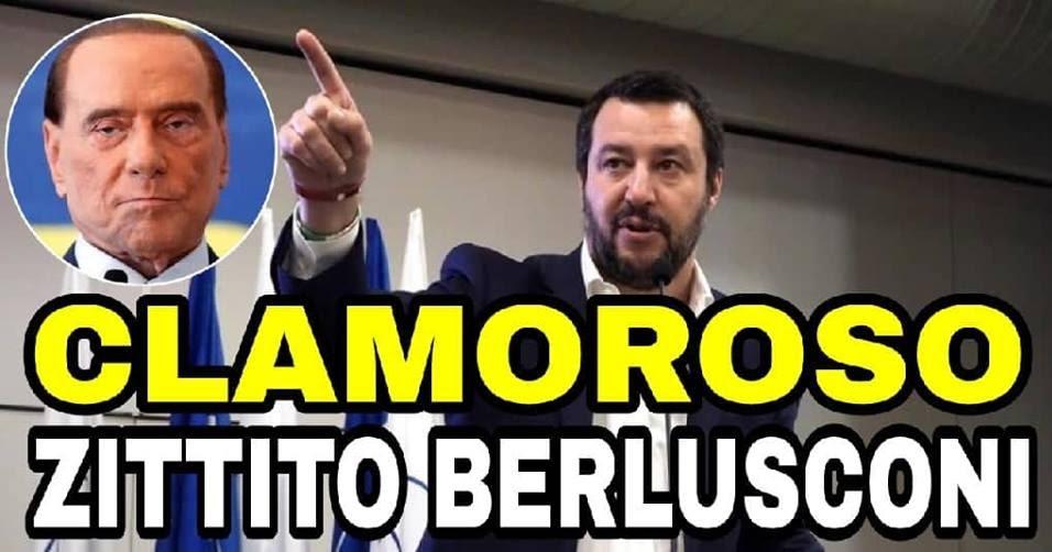 SALVINI ZITTISCE BERLUSCONI: Gli italiani non ci hanno votato per riportare al governo persone che l'hanno rovinata!